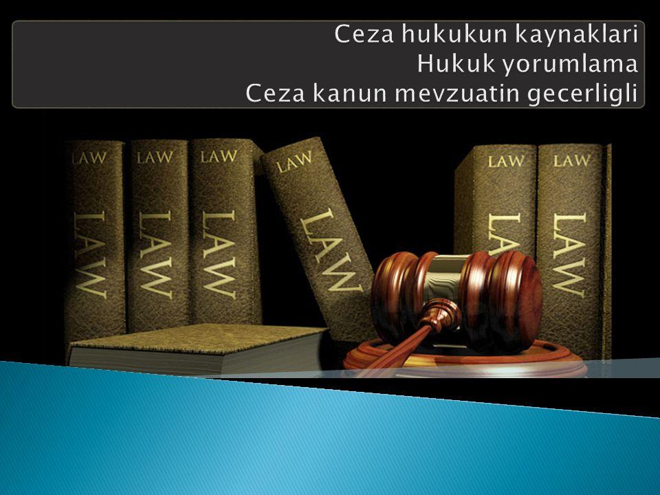  Alan mevzuatinin prensipi uygulamada uc eleman onemlidir: ◦ Devletin alani; ◦ Failin vatandasligi; ◦ Suc kime karsi islenmis.