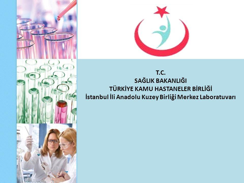 T.C. SAĞLIK BAKANLIĞI TÜRKİYE KAMU HASTANELER BİRLİĞİ İstanbul İli Anadolu Kuzey Birliği Merkez Laboratuvarı
