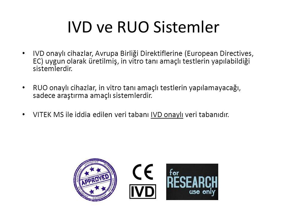 IVD ve RUO Sistemler IVD onaylı cihazlar, Avrupa Birliği Direktiflerine (European Directives, EC) uygun olarak üretilmiş, in vitro tanı amaçlı testlerin yapılabildiği sistemlerdir.