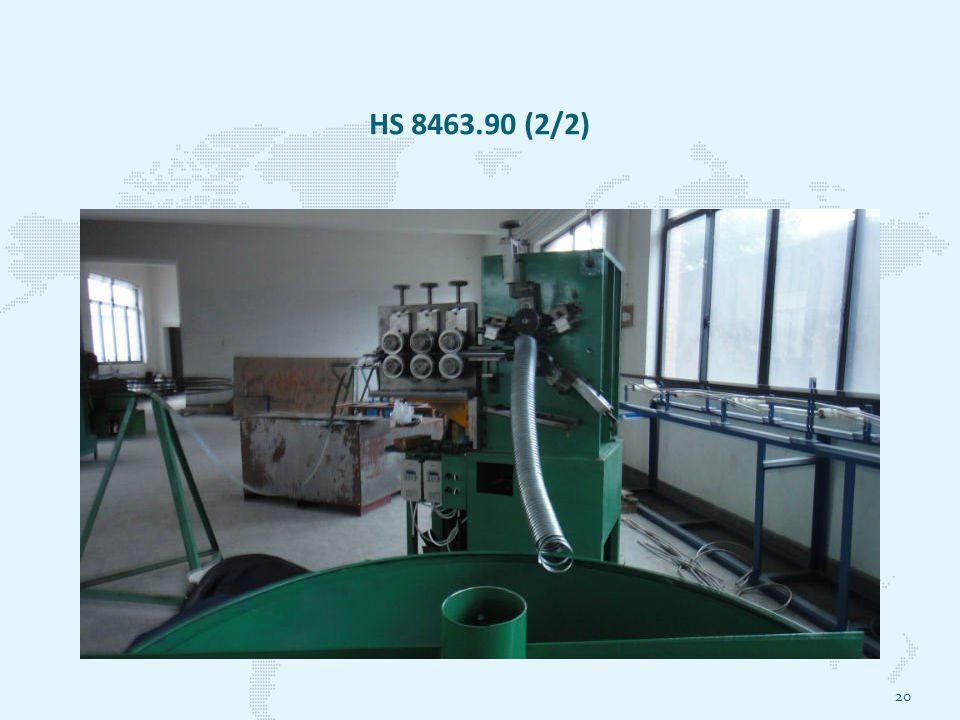 HS 8463.90 (2/2) 20