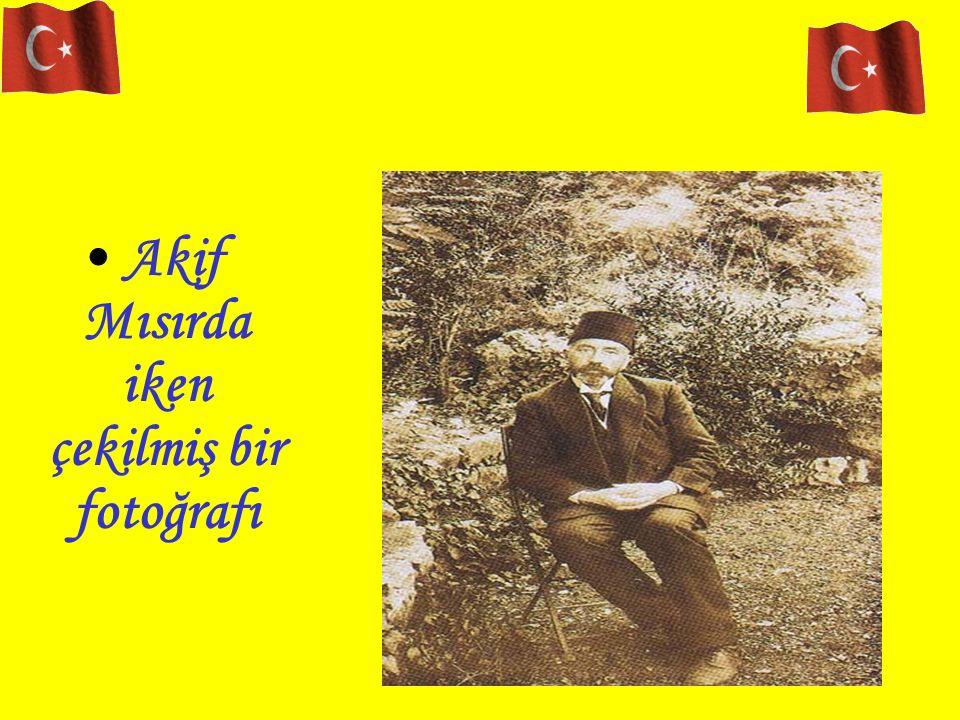 Akif Mısırda iken çekilmiş bir fotoğrafı Akif'in az bir müddet de olsa Ankarada kaldığı bir başka ev.