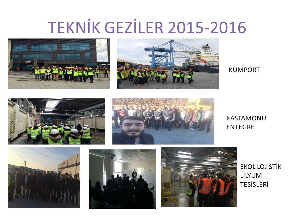 TEKNİK GEZİLER 2015-2016 KUMPORT KASTAMONU ENTEGRE EKOL LOJİSTİK LİLYUM TESİSLERİ