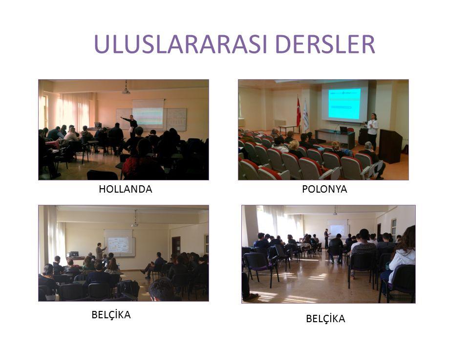 ULUSLARARASI DERSLER HOLLANDAPOLONYA BELÇİKA