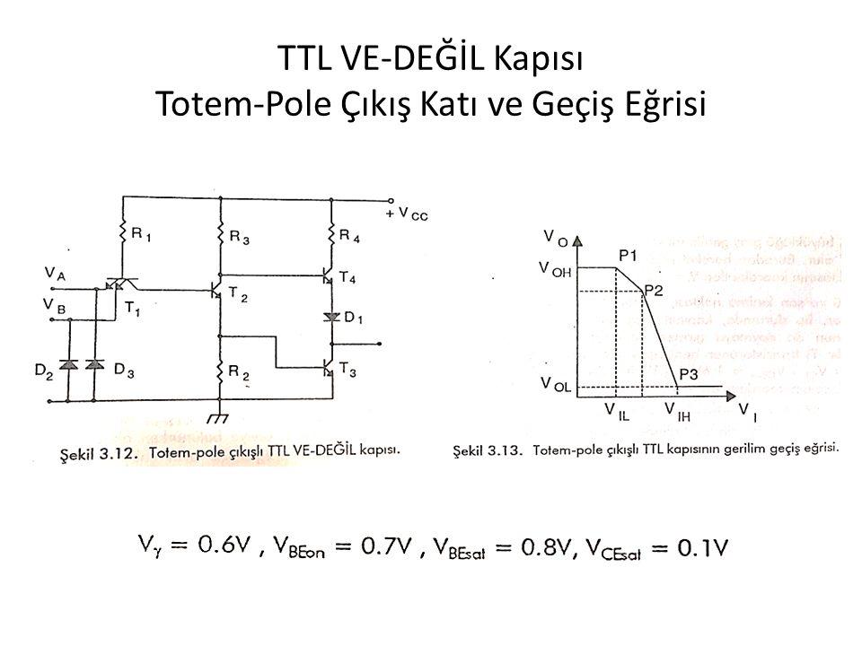 TTL VE-DEĞİL Kapısı Totem-Pole Çıkış Katı ve Geçiş Eğrisi