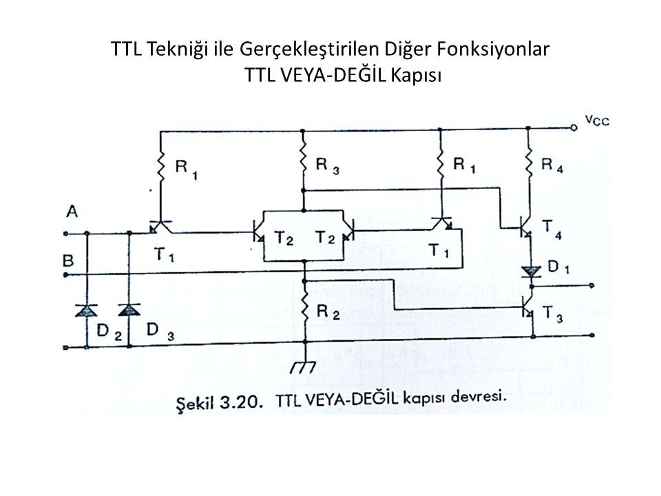 TTL Tekniği ile Gerçekleştirilen Diğer Fonksiyonlar TTL VEYA-DEĞİL Kapısı