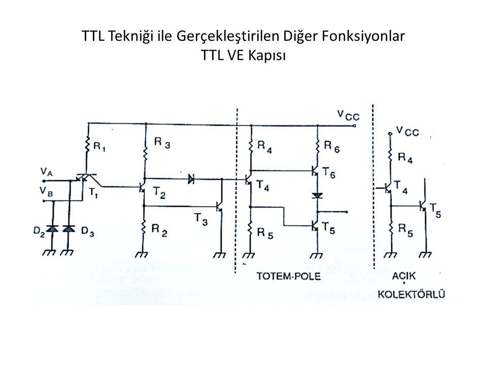 TTL Tekniği ile Gerçekleştirilen Diğer Fonksiyonlar TTL VE Kapısı