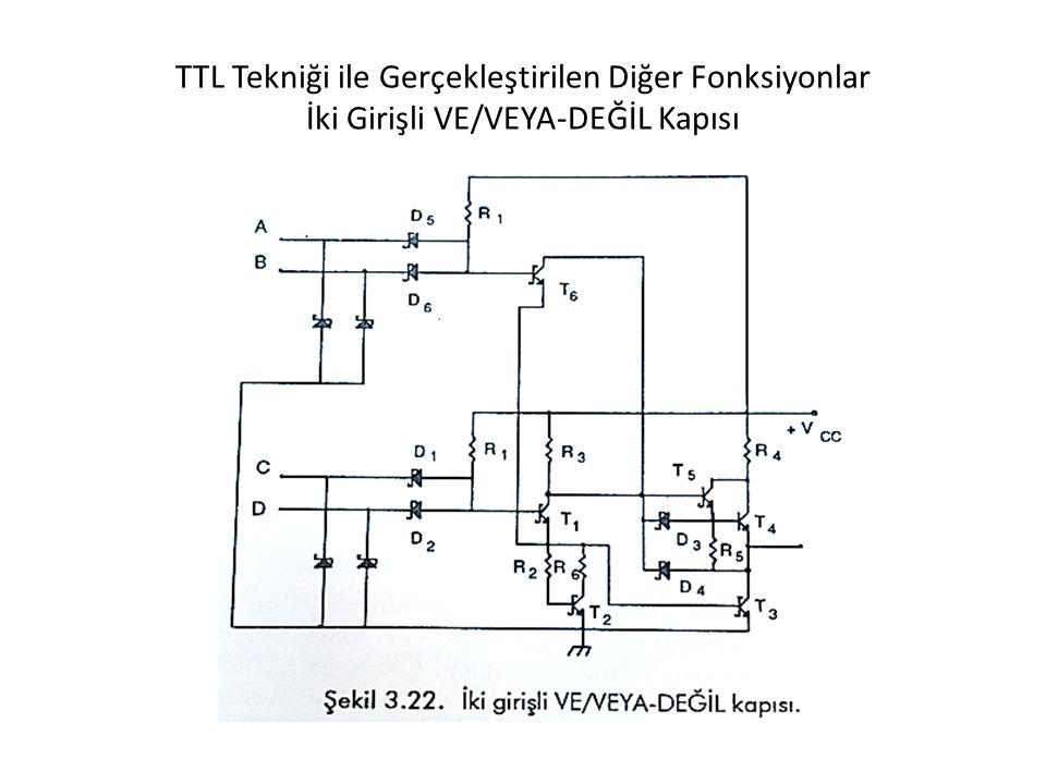 TTL Tekniği ile Gerçekleştirilen Diğer Fonksiyonlar İki Girişli VE/VEYA-DEĞİL Kapısı
