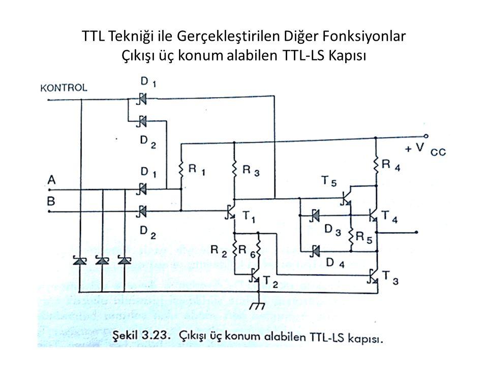 TTL Tekniği ile Gerçekleştirilen Diğer Fonksiyonlar Çıkışı üç konum alabilen TTL-LS Kapısı