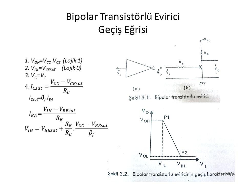 Bipolar Transistörlü Evirici Geçiş Eğrisi