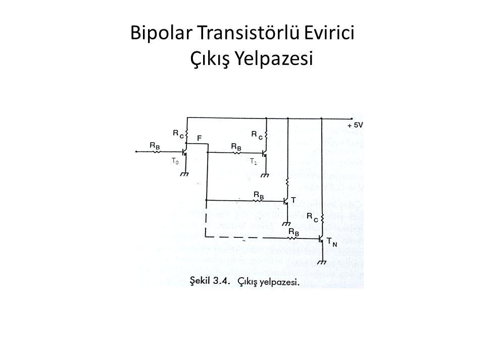 Bipolar Transistörlü Evirici Çıkış Yelpazesi T0T0 T1T1