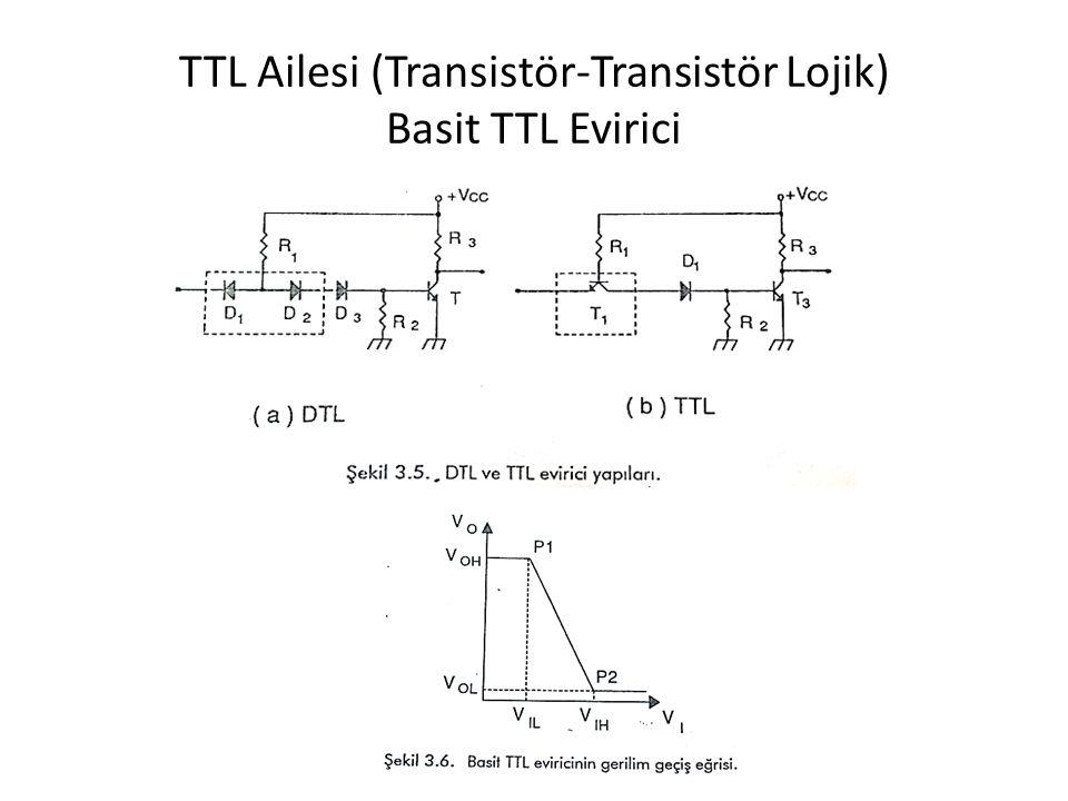 TTL Ailesi (Transistör-Transistör Lojik) Basit TTL Evirici