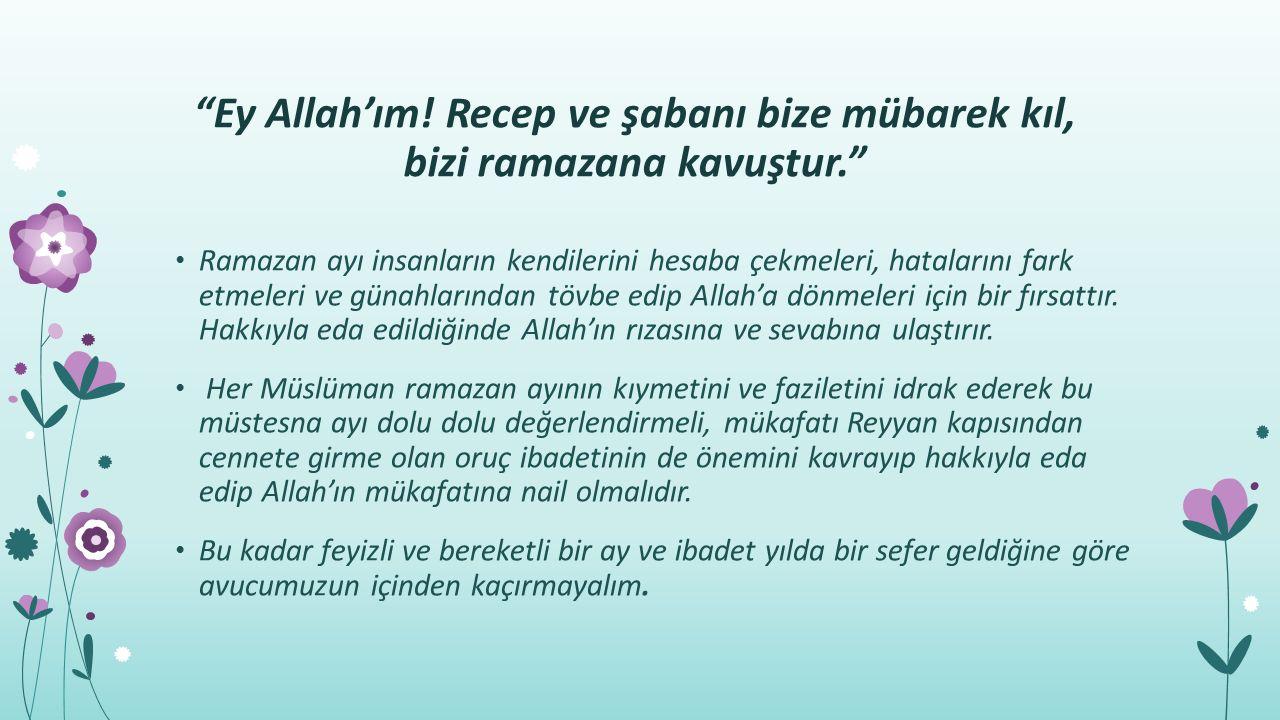 Ey Allah'ım.