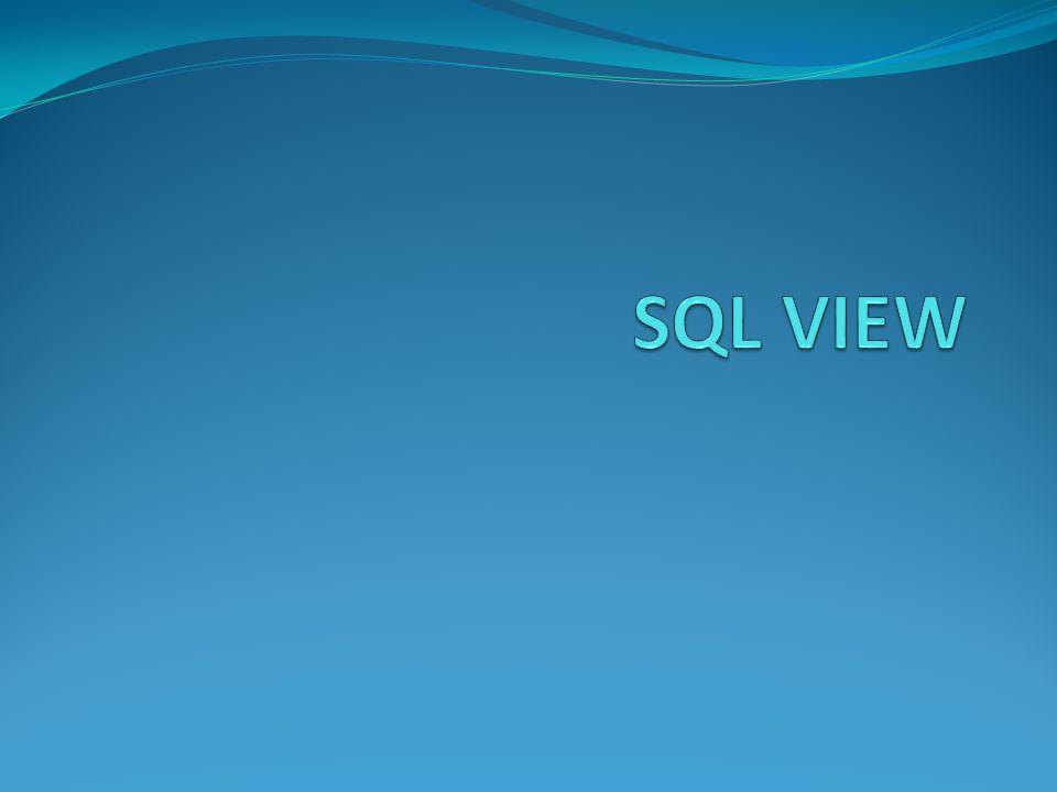 View View'ler select ifadesi ile tanımlanmış sanal tablolardır.