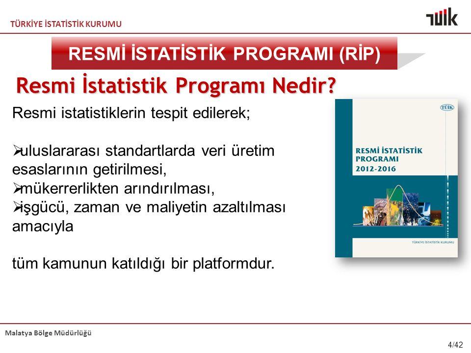 TÜRKİYE İSTATİSTİK KURUMU Malatya Bölge Müdürlüğü Resmi İstatistik Programı Nedir.