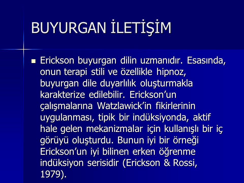 BUYURGAN İLETİŞİM Erickson buyurgan dilin uzmanıdır.