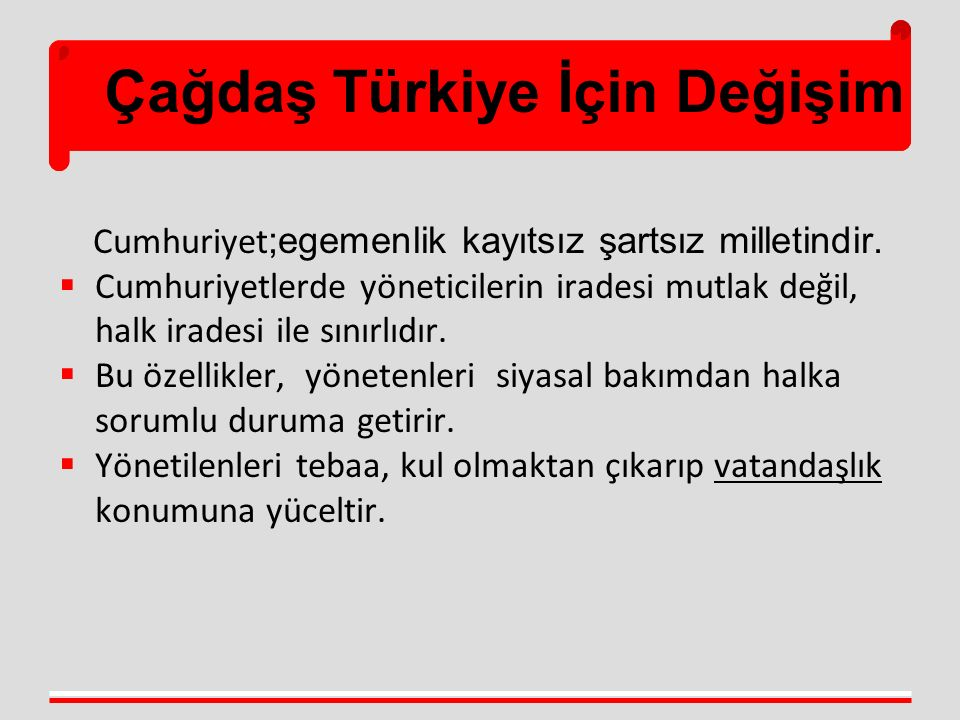 Çağdaş Türkiye İçin Değişim Yeni Sosyal Refah Devleti