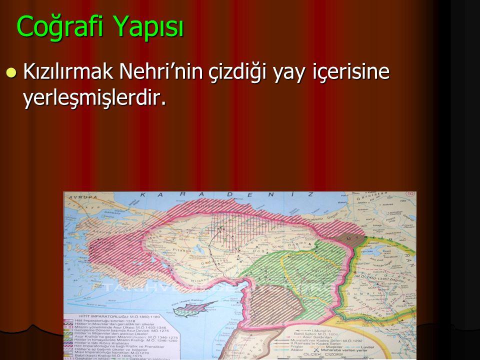 2)Hititler M.Ö 2000 yıllarında Anadolu'ya gelerek Kızılırmak çevresinde devlet kurmuşlardır. Başkentleri Hattuşaş ( Boğazköy) şehridir. Çorum yakınlar