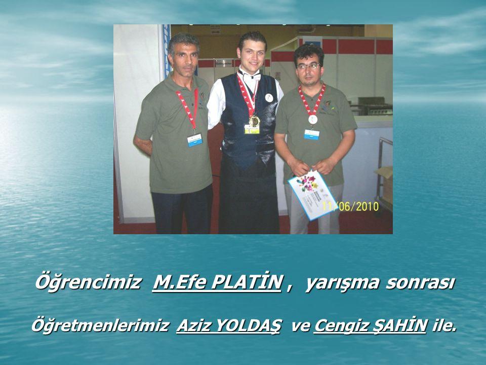 ANTALYA'da 18-21 Ocak 2012 de düzenlenen 4.Uluslararası Altın Kep Yarışmaları'nın, Turizm Otelcilik Liseleri kategorisinde Türkiye 2'ncisi olan Öğrencilerimiz : Çisel ER - Ahmet KAÇANER - Yusuf Can DİRİK Kalpleri de, Kepleri gibi Altın Çocuklarımız.