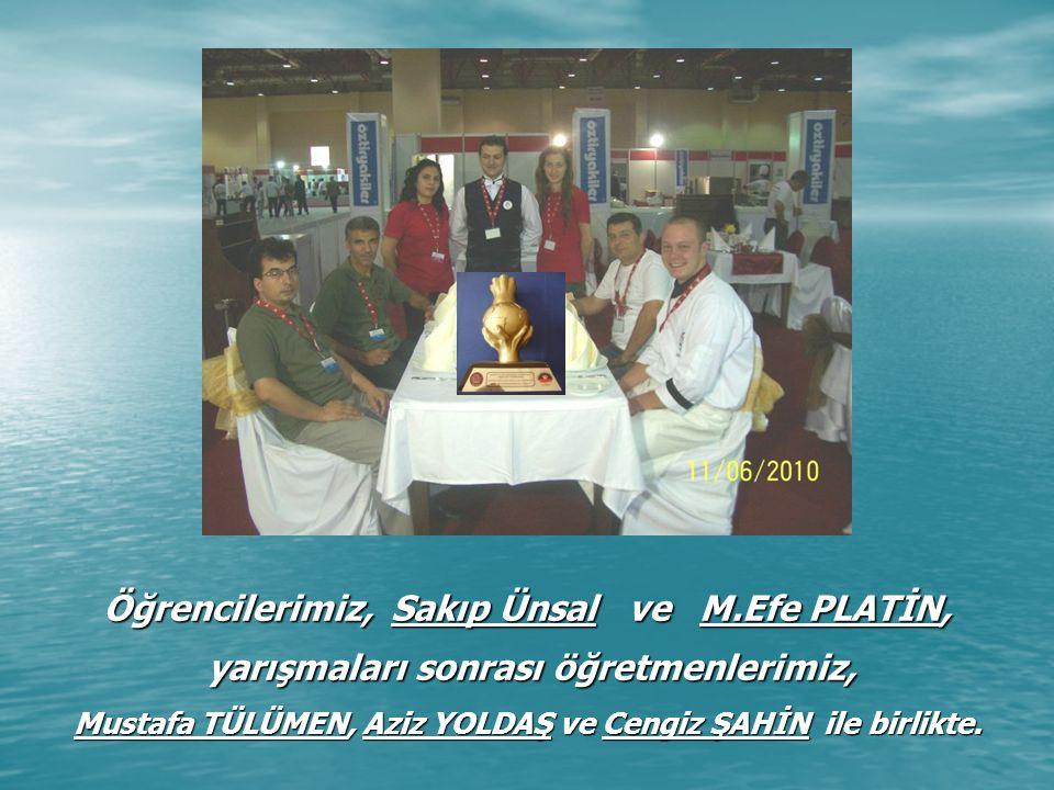 Altın Çocuklarımız, Sakıp Ünsal ve M.Efe PLATİN, yarışmaları sonrası öğretmenlerimiz, Mustafa TÜLÜMEN, Aziz YOLDAŞ ve Cengiz ŞAHİN ile birlikte.