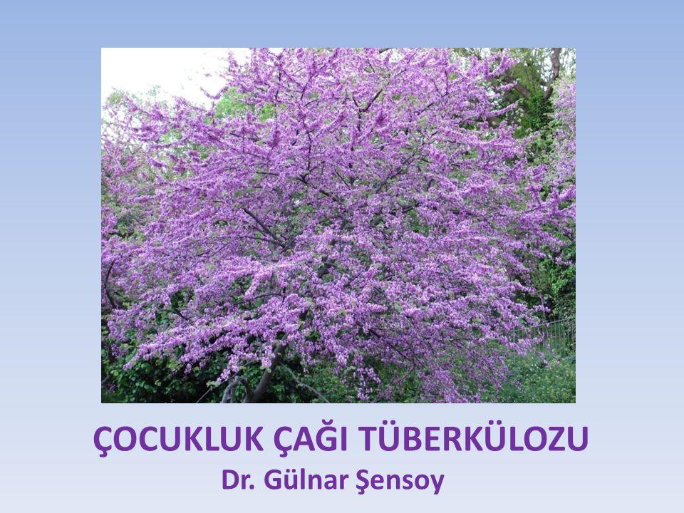 ÇOCUKLUK ÇAĞI TÜBERKÜLOZU Dr. Gülnar Şensoy