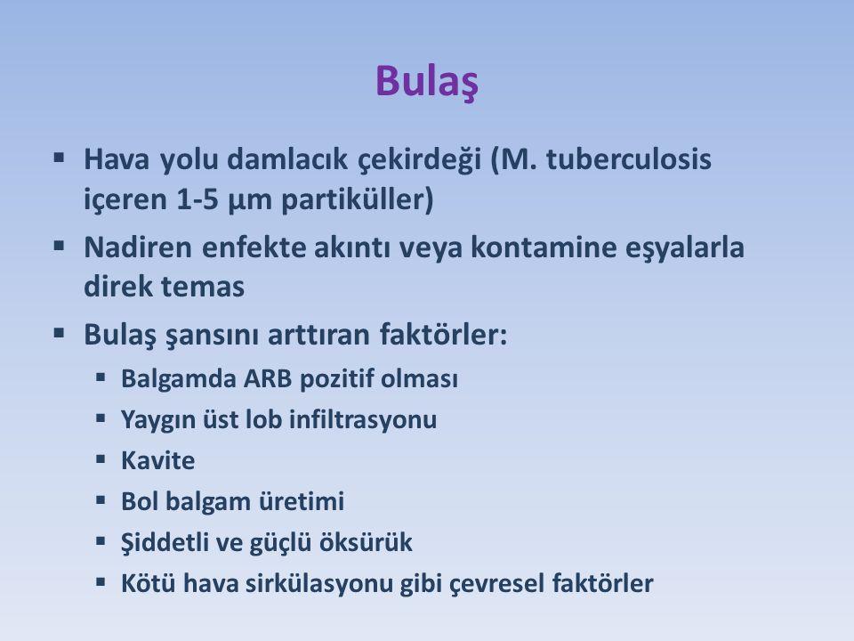 16 y 8 ay OŞ  Ağustos 2013  Yakınma: 1 aydır halsizlik, kilo kaybı, 10 gündür ateş  Anne 24 yıl önce TB geçirmiş.