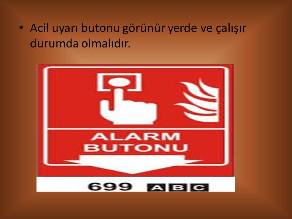 Acil durumlarda yardım çağırma telefon numaraları levhası herkesin rahatlıkla göre bilebileceği yerlerde olmalıdır