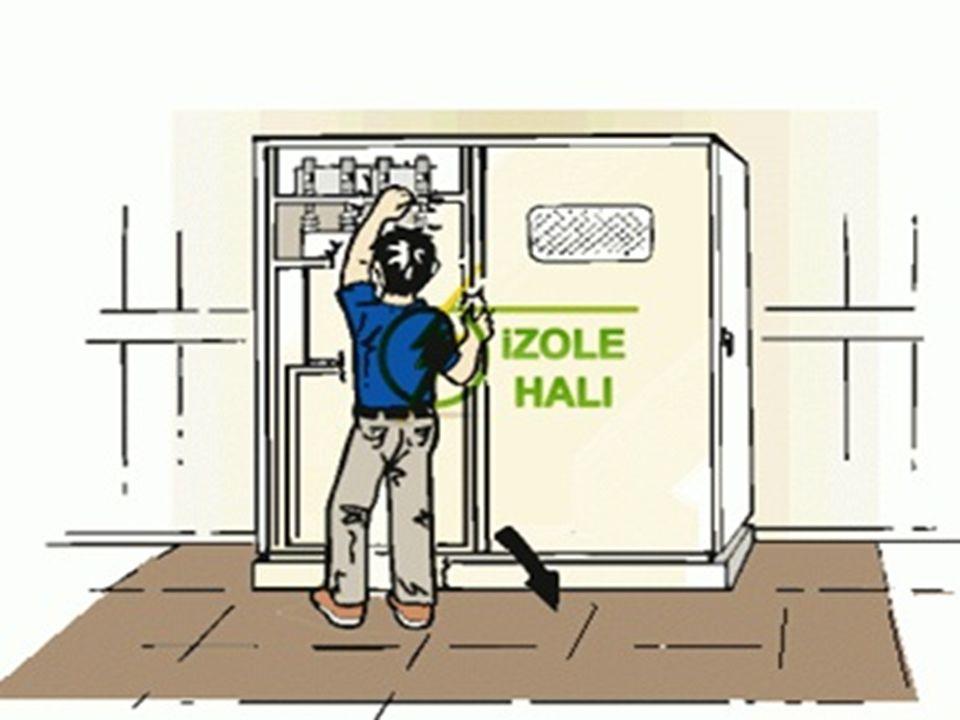 Elektrik panolarının önüne Yalıtkan paspas veya halı yerleştirilmelidir