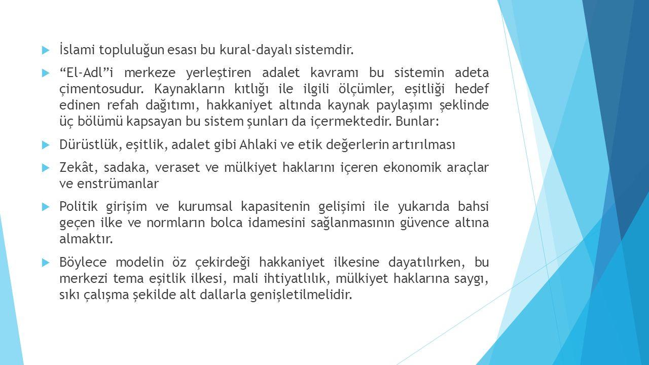 İslami topluluğun esası bu kural-dayalı sistemdir.