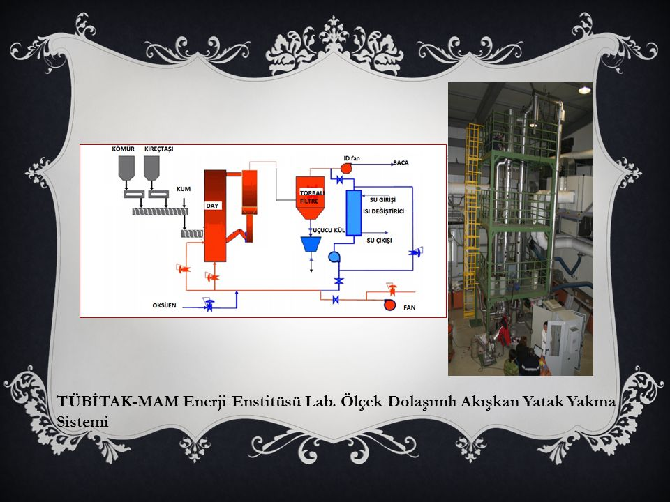 TÜBİTAK-MAM Enerji Enstitüsü Lab. Ölçek Dolaşımlı Akışkan Yatak Yakma Sistemi