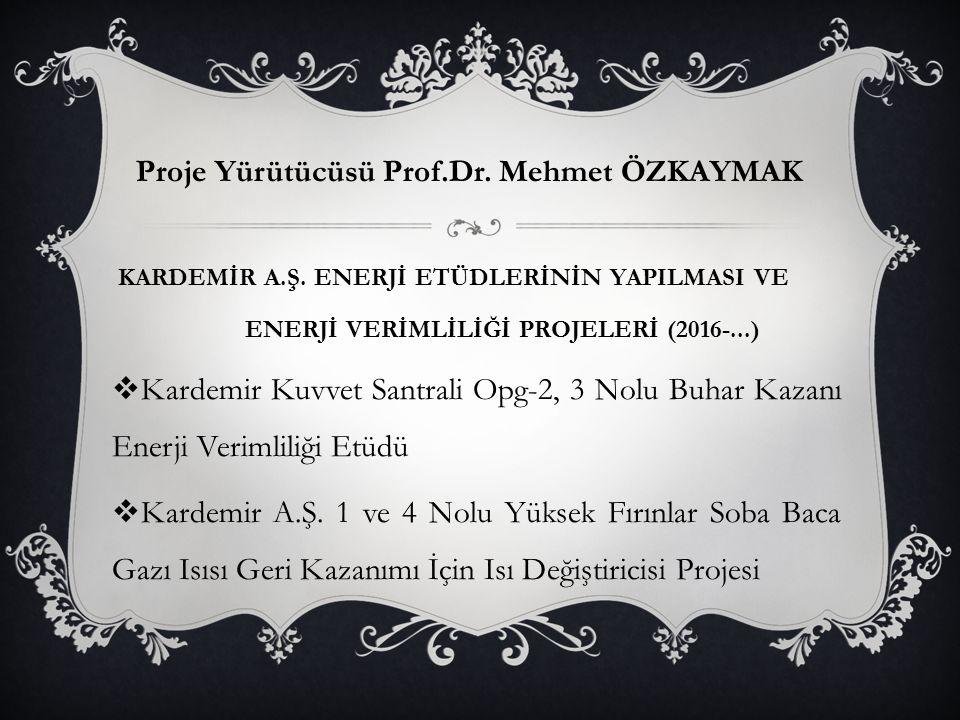 Proje Yürütücüsü Prof.Dr. Mehmet ÖZKAYMAK KARDEMİR A.Ş.