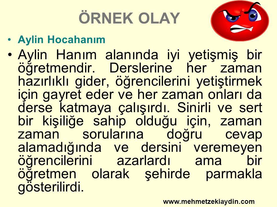 ÖRNEK OLAY Aylin Hocahanım Aylin Hanım alanında iyi yetişmiş bir öğretmendir.