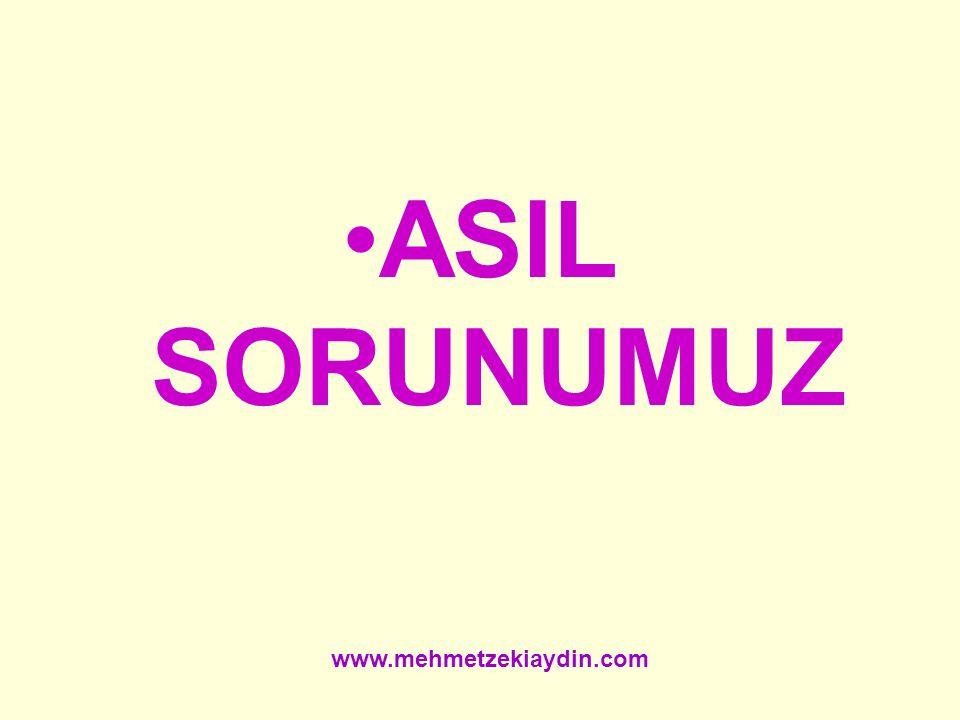 ASIL SORUNUMUZ www.mehmetzekiaydin.com