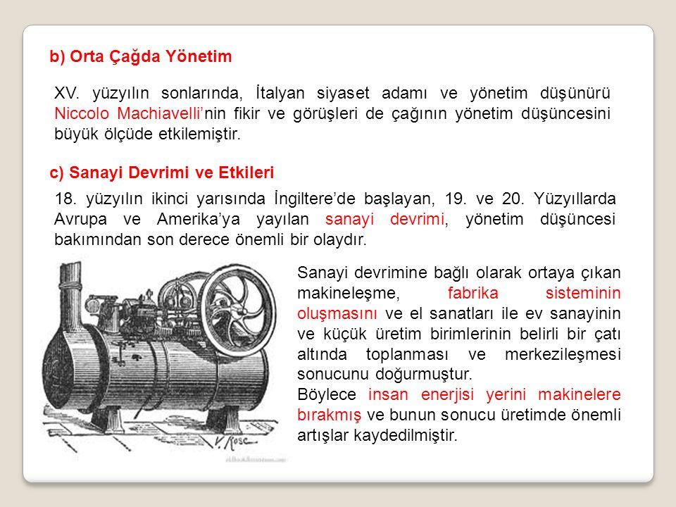 b) Orta Çağda Yönetim XV.