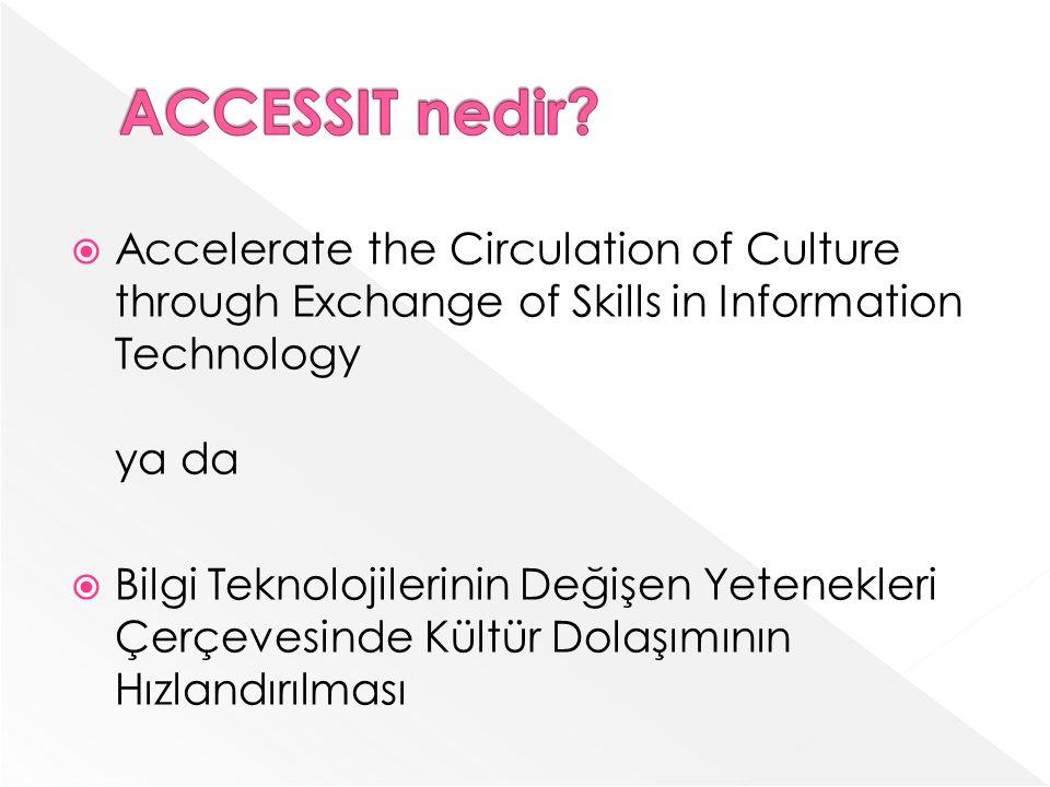 Accelerate the Circulation of Culture through Exchange of Skills in Information Technology ya da Bilgi Teknolojilerinin Değişen Yetenekleri Çerçevesinde Kültür Dolaşımının Hızlandırılması