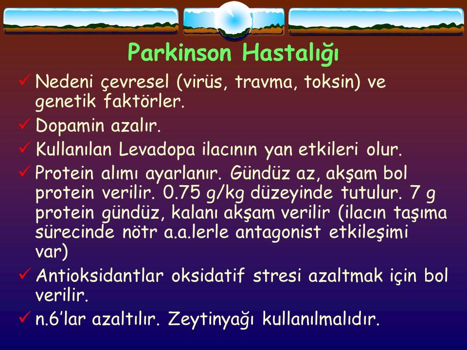 Parkinson Hastalığı Nedeni çevresel (virüs, travma, toksin) ve genetik faktörler.