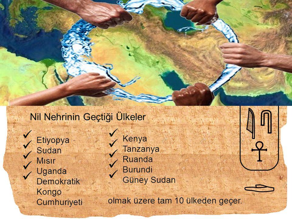 Nil Nehrinin Geçtiği Ülkeler Etiyopya Sudan Mısır Uganda Demokratik Kongo Cumhuriyeti Kenya Tanzanya Ruanda Burundi Güney Sudan olmak üzere tam 10 ülk