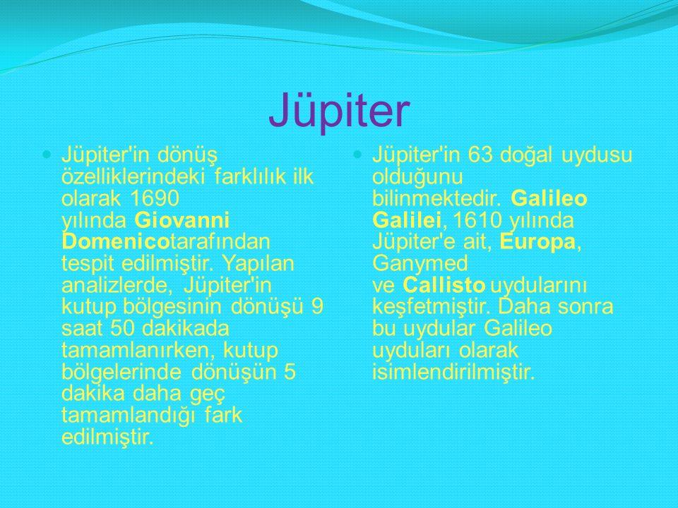 Jüpiter Jüpiter'in dönüş özelliklerindeki farklılık ilk olarak 1690 yılında Giovanni Domenicotarafından tespit edilmiştir. Yapılan analizlerde, Jüpite