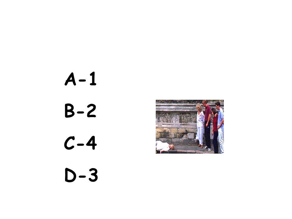 A-1 B-2 C-4 D-3