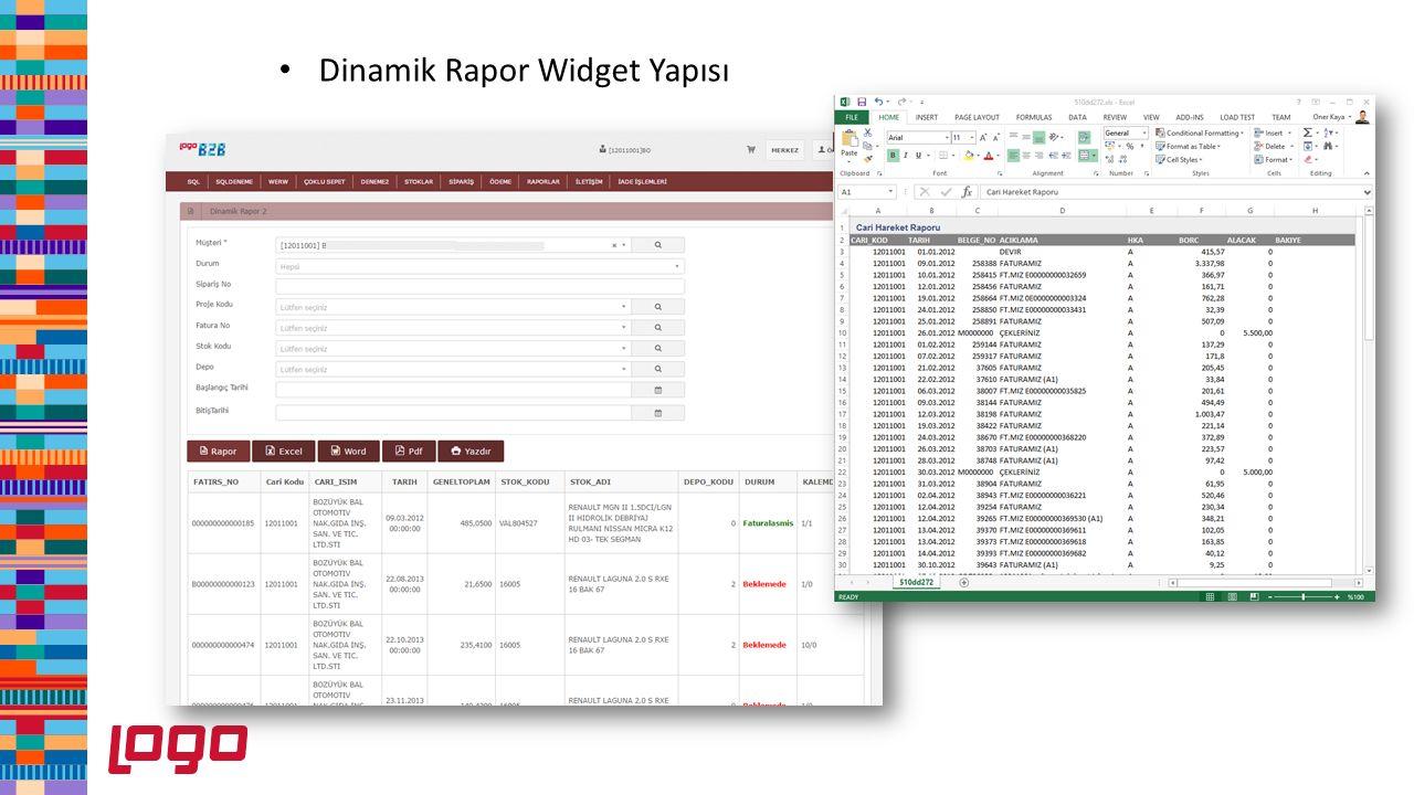 Dinamik Rapor Widget Yapısı