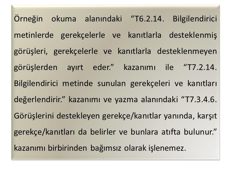 Örneğin okuma alanındaki T6.2.14.