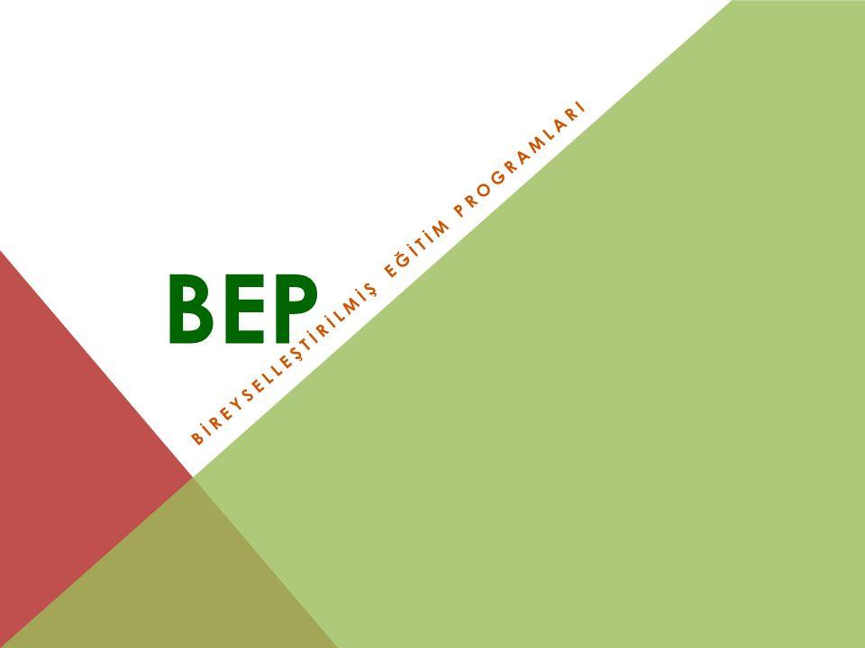 BEP NEDİR.Bir özel eğitim programıdır.
