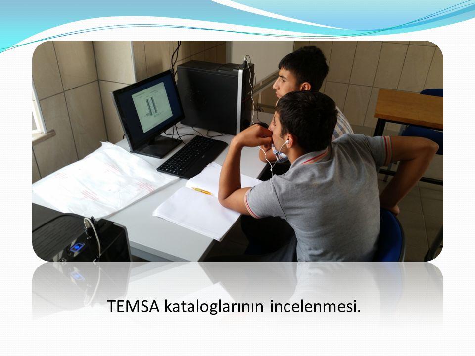 TEMSA kataloglarının incelenmesi.