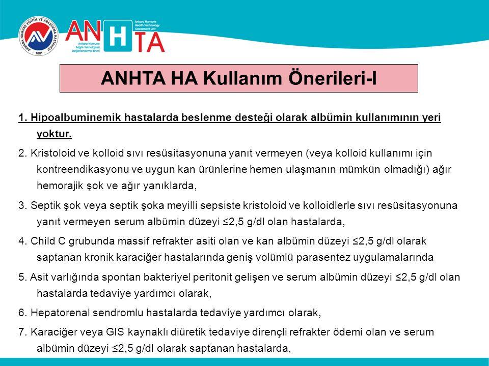 ANHTA HA Kullanım Önerileri-I 1.