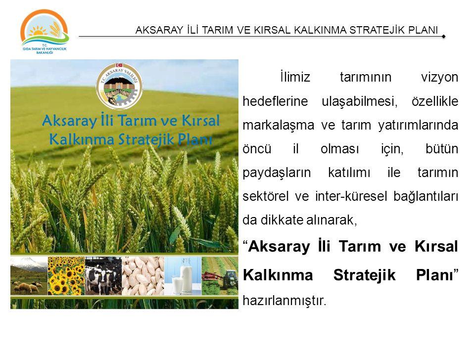 İlimiz tarımının vizyon hedeflerine ulaşabilmesi, özellikle markalaşma ve tarım yatırımlarında öncü il olması için, bütün paydaşların katılımı ile tarımın sektörel ve inter-küresel bağlantıları da dikkate alınarak, Aksaray İli Tarım ve Kırsal Kalkınma Stratejik Planı hazırlanmıştır.