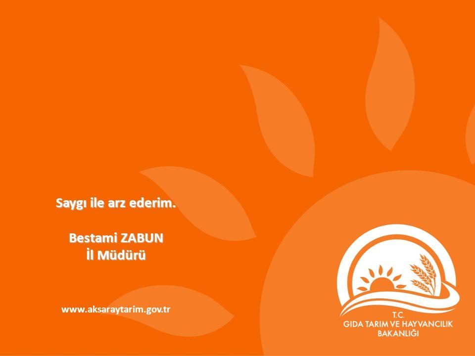 Saygı ile arz ederim. Bestami ZABUN İl Müdürü www.aksaraytarim.gov.tr
