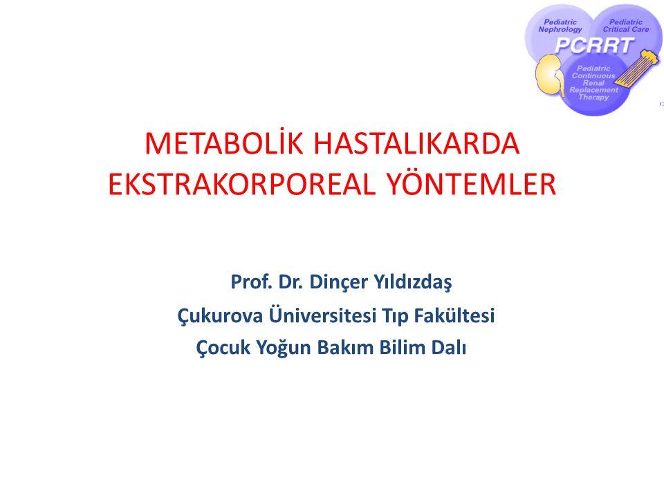 METABOLİK HASTALIKARDA EKSTRAKORPOREAL YÖNTEMLER Prof.