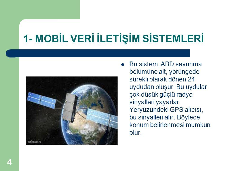 4 Bu sistem, ABD savunma bölümüne ait, yörüngede sürekli olarak dönen 24 uydudan oluşur. Bu uydular çok düşük güçlü radyo sinyalleri yayarlar. Yeryüzü
