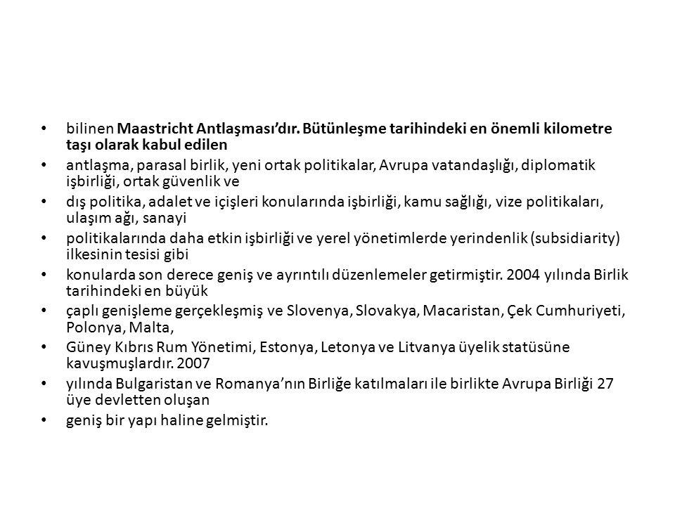bilinen Maastricht Antlaşması'dır.