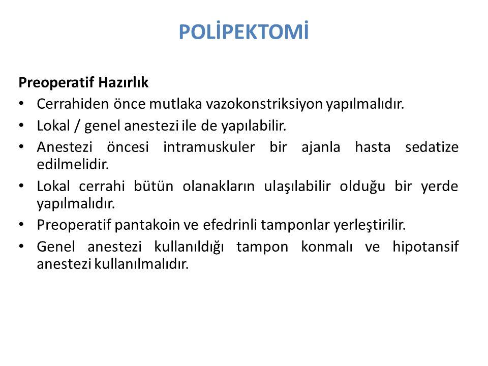 POLİPEKTOMİ Basit Polipektomi Basit polipektomi bir cerrahi yöntemdir.