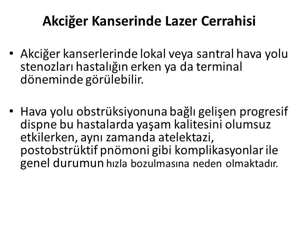 Akciğer Kanserinde Lazer Cerrahisi Akciğer kanserlerinde lokal veya santral hava yolu stenozları hastalığın erken ya da terminal döneminde görülebilir.